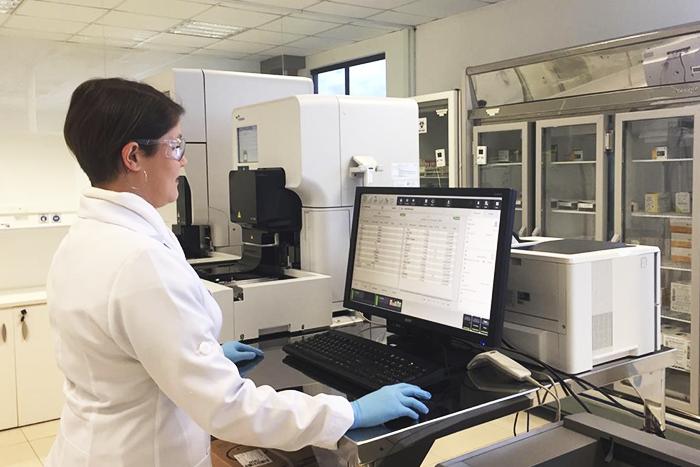 análise de urina automatizada